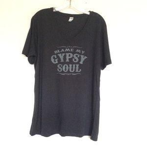 Blame My Gypsy Soul V neck
